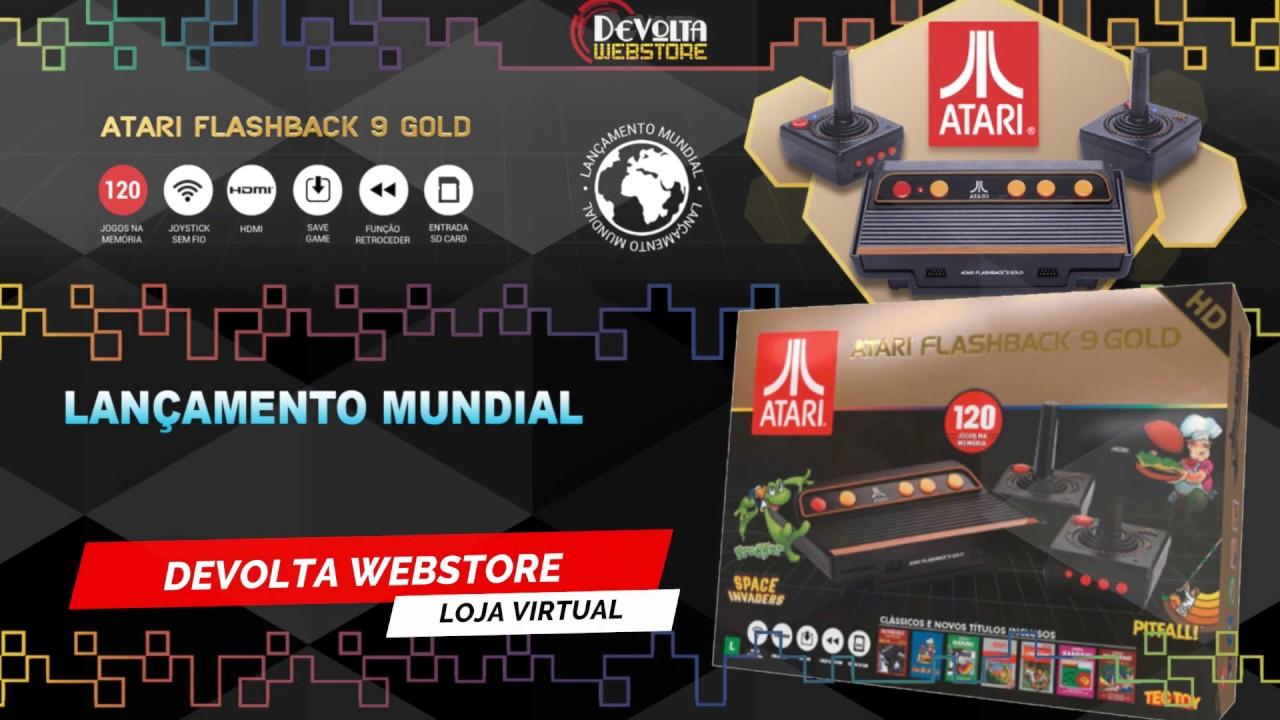 Devolta Webstore Comprou Chegou Atari Flashback 9 Gold Hd