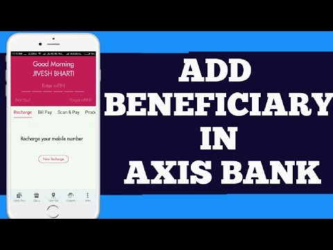 Axis bank add payee in mobile banking || how to add ...