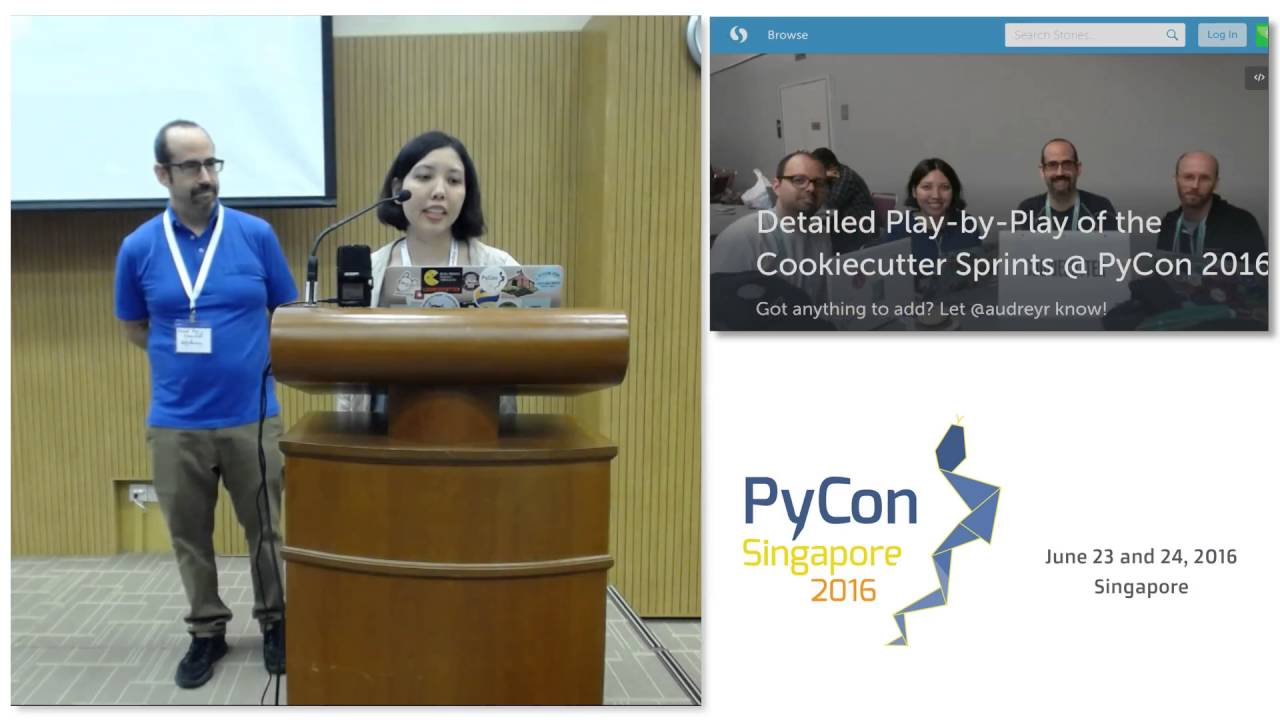 Image from Lightning Talk: Sprints - PyConSG 2016