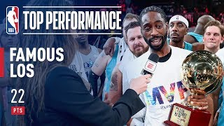 Famous Los Takes Home The 2019 NBA Celebrity Game MVP! | 2019 NBA All-Star