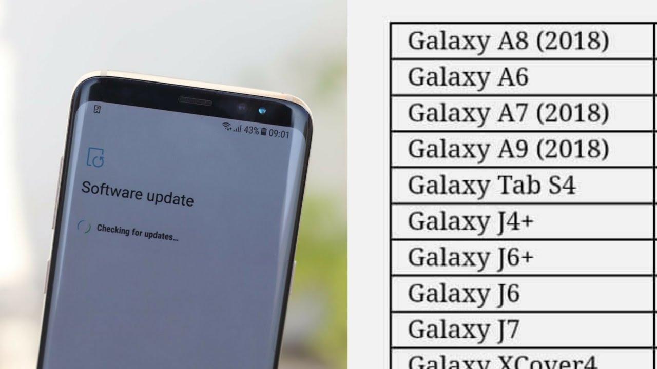 Samsung Android pie/Samsung one UI update list from Vietnam | Mobile