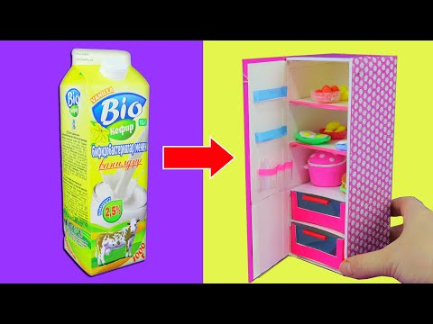МЕБЕЛЬ для кукол своими руками # холодильник для Барби # Мастер класс КУКОЛЬНЫЙ ДОМИК DIY