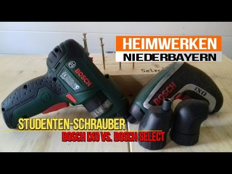 bosch ixo vs bosch select studentenschrauber youtube. Black Bedroom Furniture Sets. Home Design Ideas