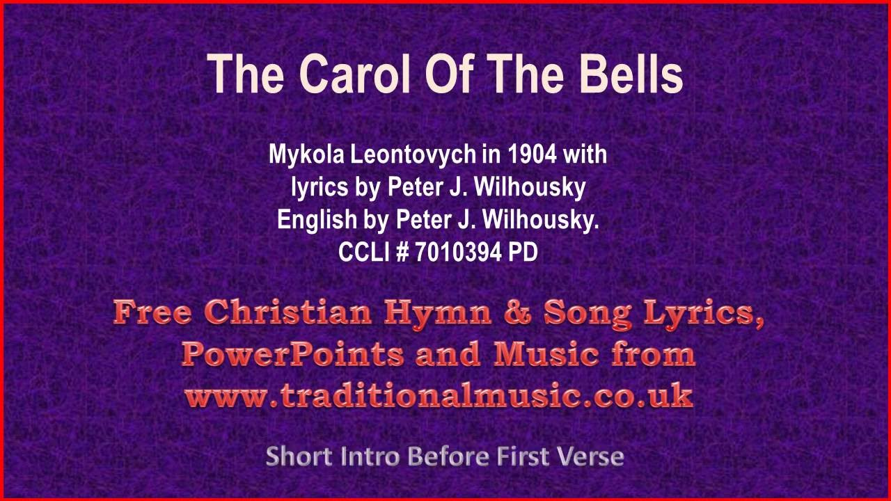 Silver Bells(Carol Of The Bells) - Christmas Carols Lyrics & Music ...