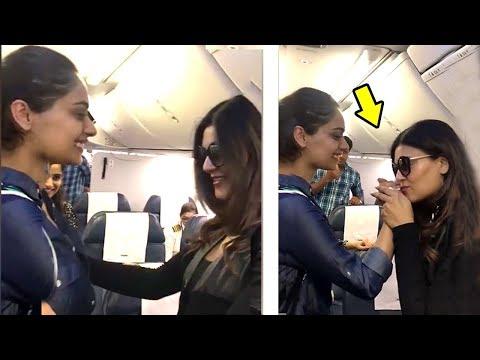 Sushmita Sen Quickly Spots Manushi Chillar On Same Airplane.. What She Does Next Will Melt Ur Heart