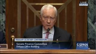 Sen. Hatch: Mnuchin Is Right Man For Treasury Post, One Of The Most Important Jobs In The Country