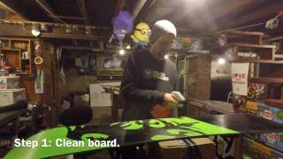 Let's chat: Karma grip and waxing a snowboard.