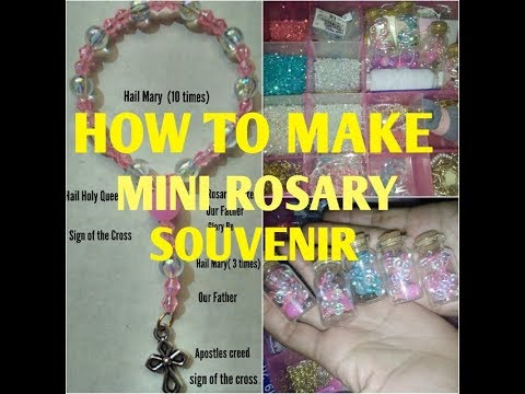 How to make Mini rosary (souvenir