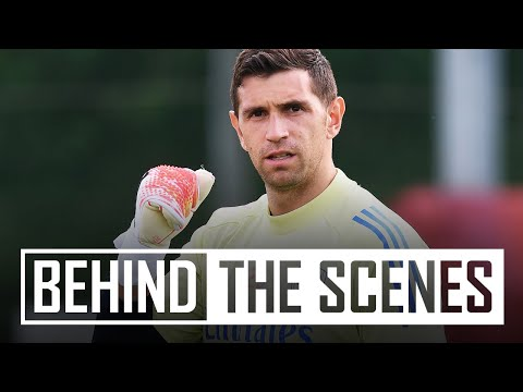 WHAT A SAVE FROM MARTINEZ! | Behind the scenes at Arsenal training centre