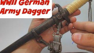 World War II German Nazi Army Heer Dagger - Knife Sword WWII WW2
