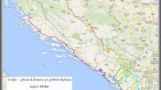 Montenegro,Chorvatsko 2015 (13.den motoputování) cesta domů po pobřeží Jadranu