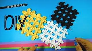 Repeat youtube video Como tejer puntada y cuadro flor punto alargado ganchillo, crochet square flowers design DIY