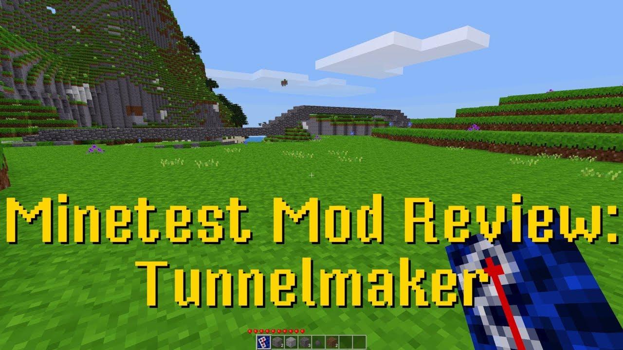 Minetest Mod Review: Tunnelmaker