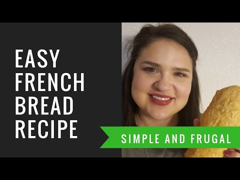 Easy French Bread Recipe at home l $0.22 per loaf