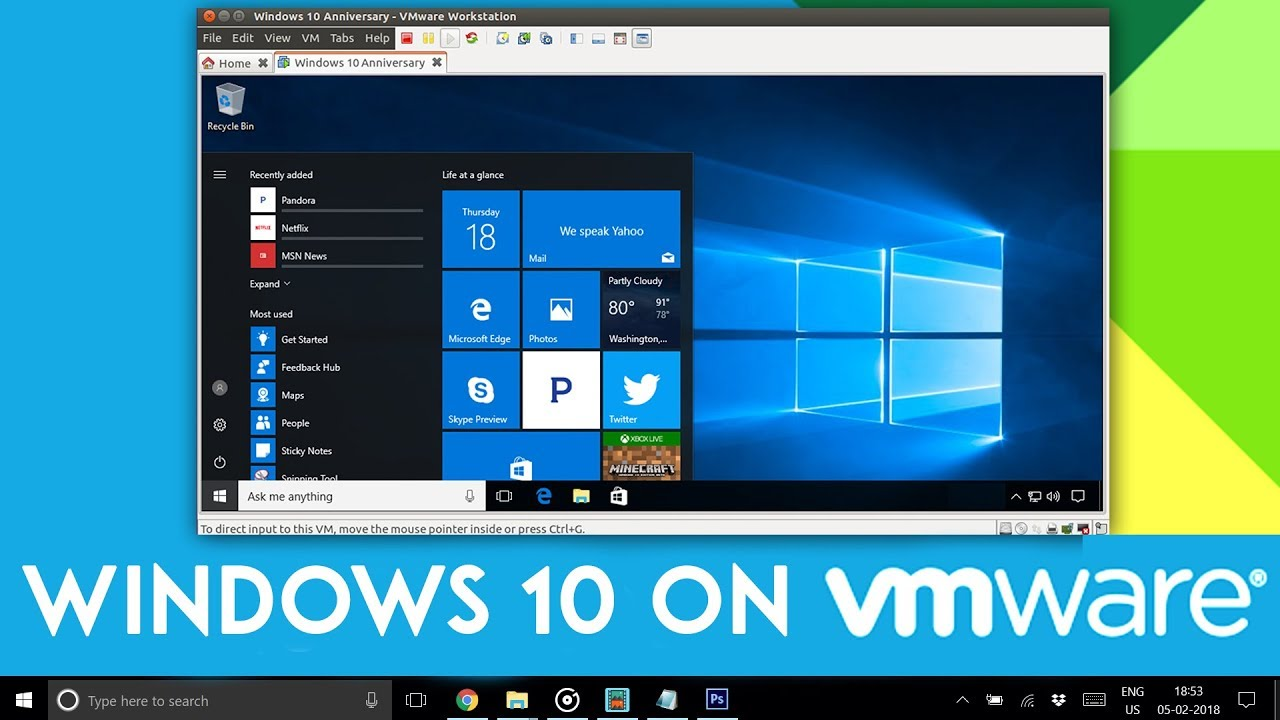 Install Windows 10 Using VMware Workstation 14 Pro - (2018)