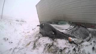 I-80 Wyoming Multi Semi Truck and Car Accident 4/16/2015