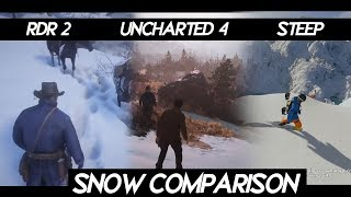 "Red dead Redemption 2 ""SNOW COMPARISON"" VS Uncharted 4 VS Steep 