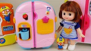 Baby doll Refrigerator and food toys baby Doli play thumbnail