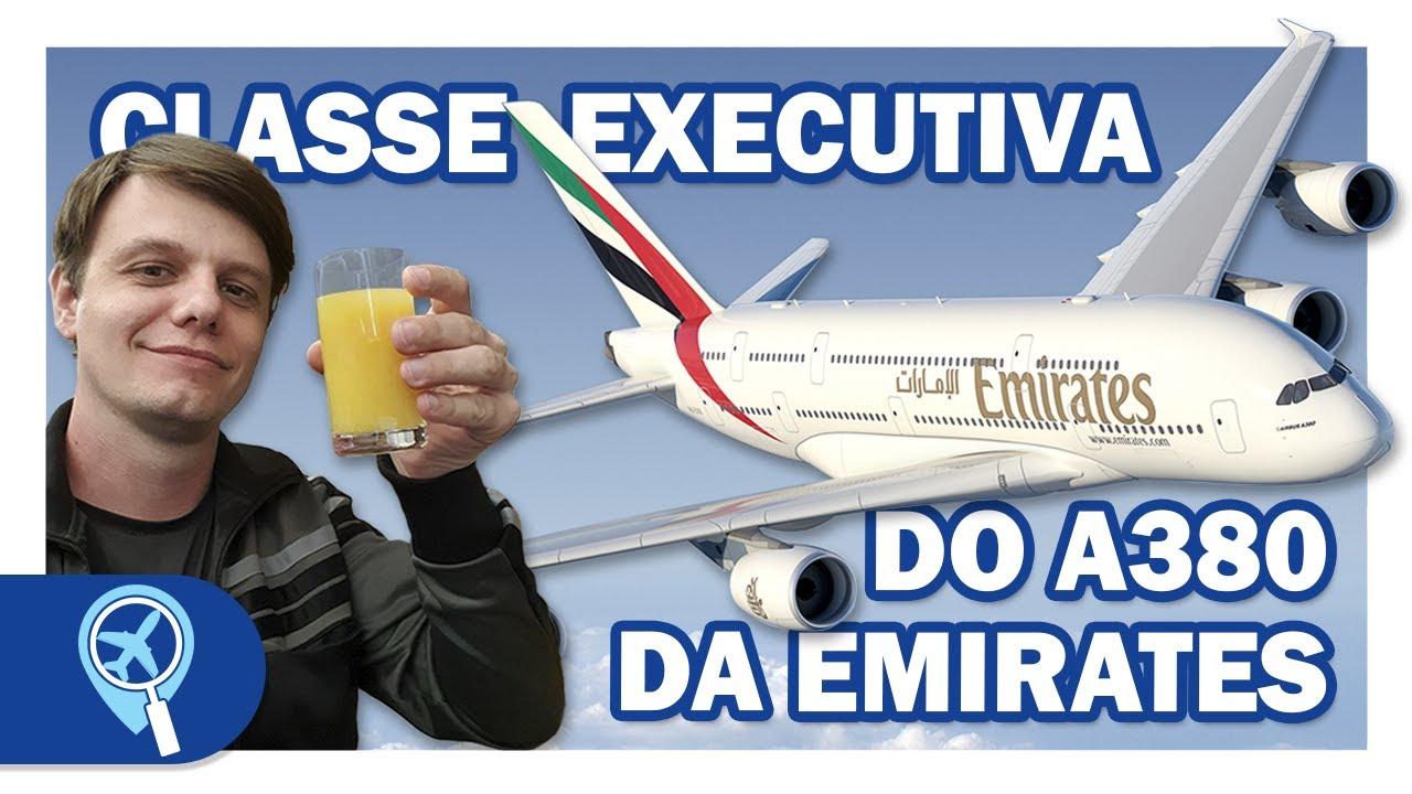 Como é voar com a Emirates na classe executiva do Airbus A380