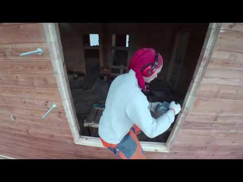 Установка обсады (окосячки) в деревянный брусовый дом