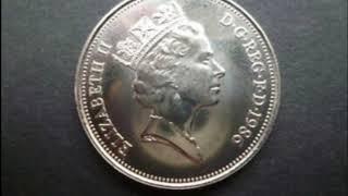 Four Elizabeth Ten Pence Coins