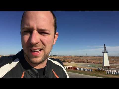Circuit rijden met de motor in Cartagena Spanje - Vlog 7
