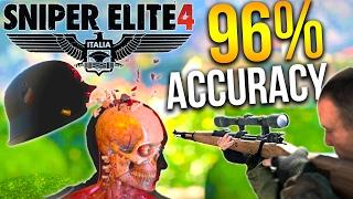 SNIPER ELITE 4 SOLO CAMPAIGN 96% ACCURACY | Sniper Elite 4 PC Gameplay Walkthrough
