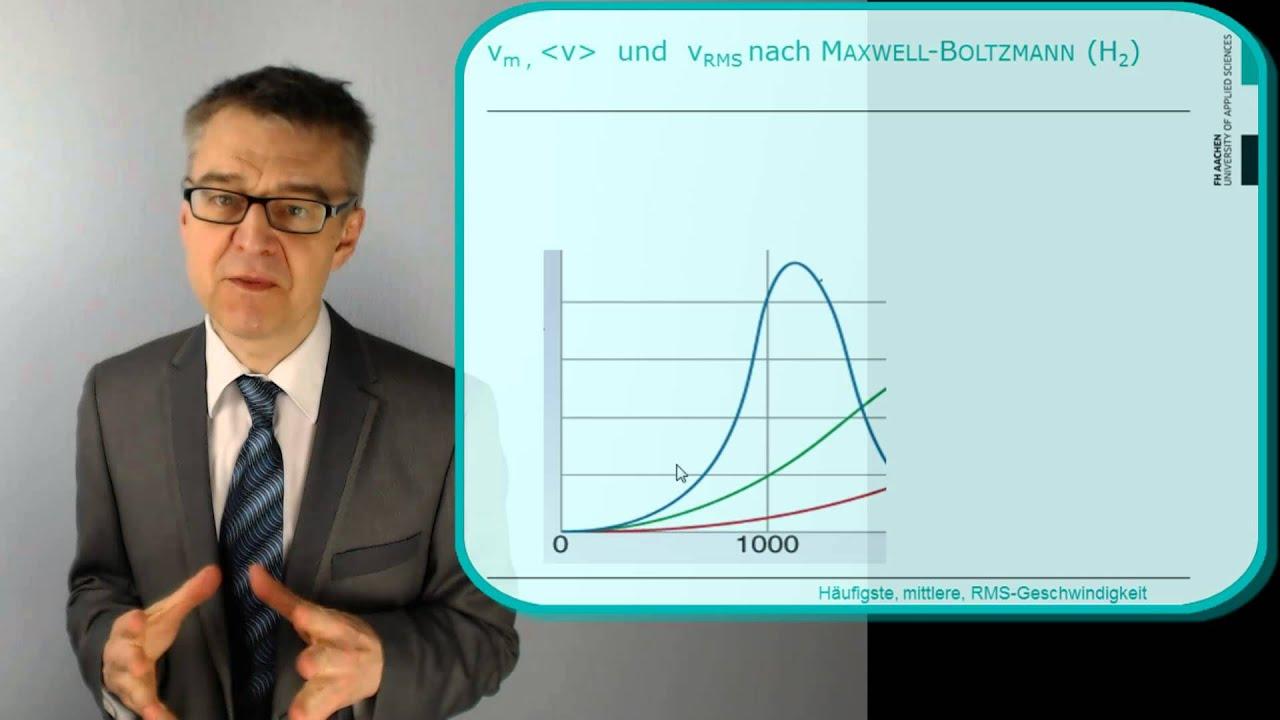 PC06 kinetische Gastheorie & Maxwell-Boltzmann - Wie beschreibt man ...