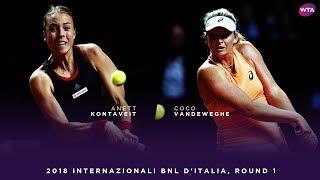 Anett Kontaveit vs. Coco Vandeweghe | 2018 Internazionali BNL d'Italia First Round | WTA Highlights