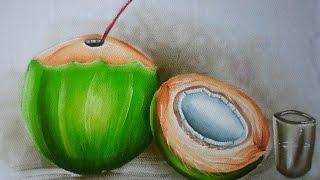 Pintura em tecido – Coco verde