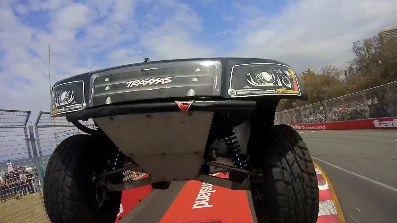 Paul Morris Insane Bumper Cam Vs Matt Brabham - Stadium SUPER Trucks