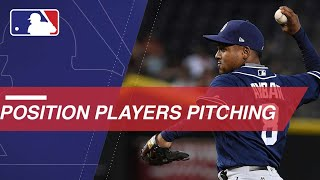 Position players who took the mound in 2017
