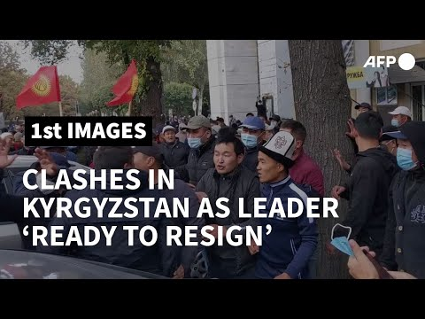 New clashes break out in Kyrgyzstan as leader 'ready to resign' | AFP