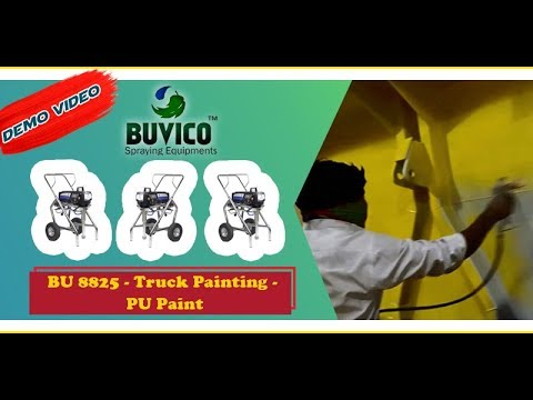 Paint For Bus | Truck Painting Videos | Vehicle Spray Painting Equipment - Airless Paint Sprayer