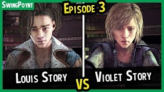 Louis Story VS Violet Story Arrival - The Walking Dead The Final Season Episode 3 Choices What If