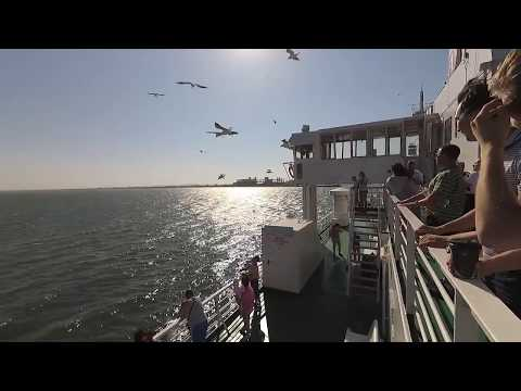 Переправа на пароме через Керченский залив! Порт Кавказ.
