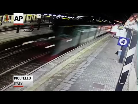 Police Release CCTV Footage Of Italy Train Crash