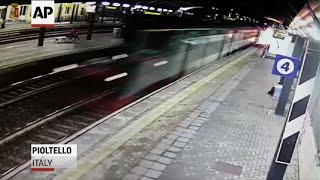 Police Release CCTV Footage Of Italy Train Crash