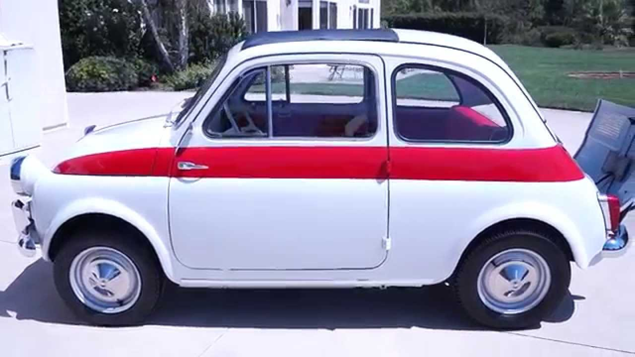 1960 FIAT 500 NUOVA SPORT MATCHING #s FULLY RESTORED Grey Red ...