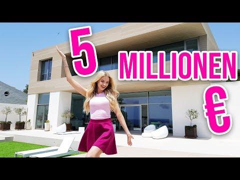 Ich zeige euch unsere 5 MILLIONEN EURO VILLA 😱 ROOMTOUR - Neues Zuhause für 72 Stunden   XLAETA