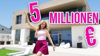 Ich zeige euch unsere 5 MILLIONEN EURO VILLA 😱 ROOMTOUR - Neues Zuhause für 72 Stunden | XLAETA