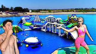 Download GOING TO THE WORLD'S BIGGEST INFLATABLE WATER PARK!! Mp3 and Videos