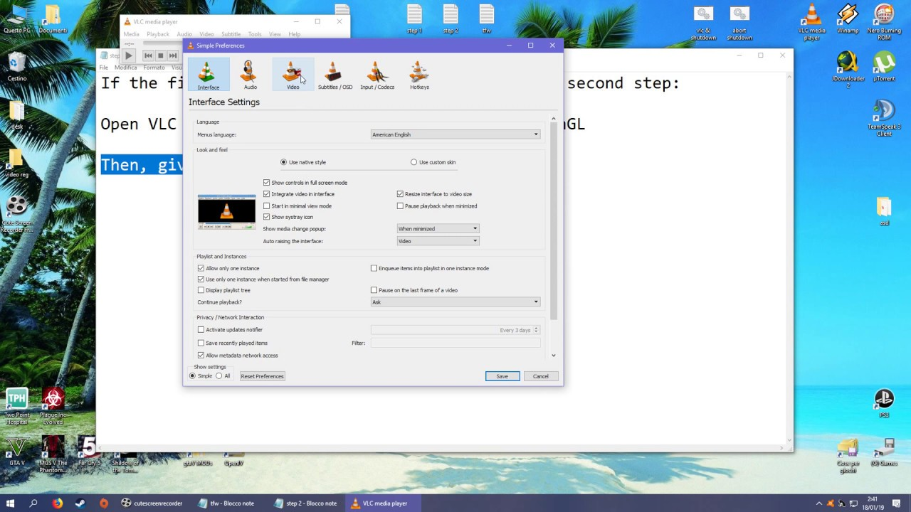 VLC 3 0+ H265 / H 265 / HEVC stuttering problem SOLVED (video playback lag  or freezes) 2019