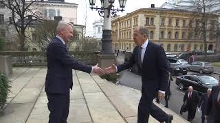 С.Лавров прибыл в Дом сословий, Хельсинки, 3 марта 2020 года