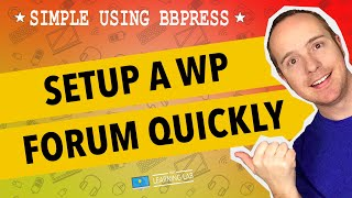 BBPress Wordpress Tutorial - Set up a Forum in Wordpress using bbPress plugin thumbnail
