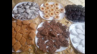 حلويات العيد 2020 ب500غ زبدة خدمت 6 اشكال لحلويات و باذواق مختلفة و بكميات كبيرة و بنة و طراوة