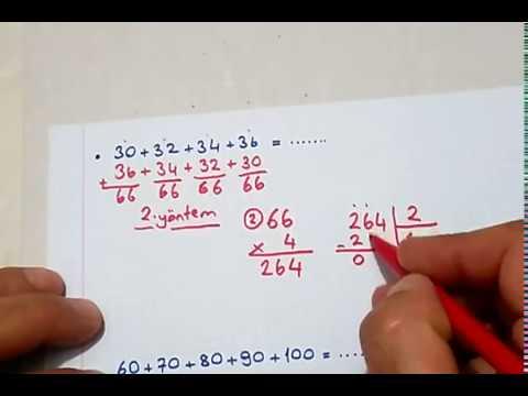 4.sınıf Matematik Ardışık Sayılarla Toplama