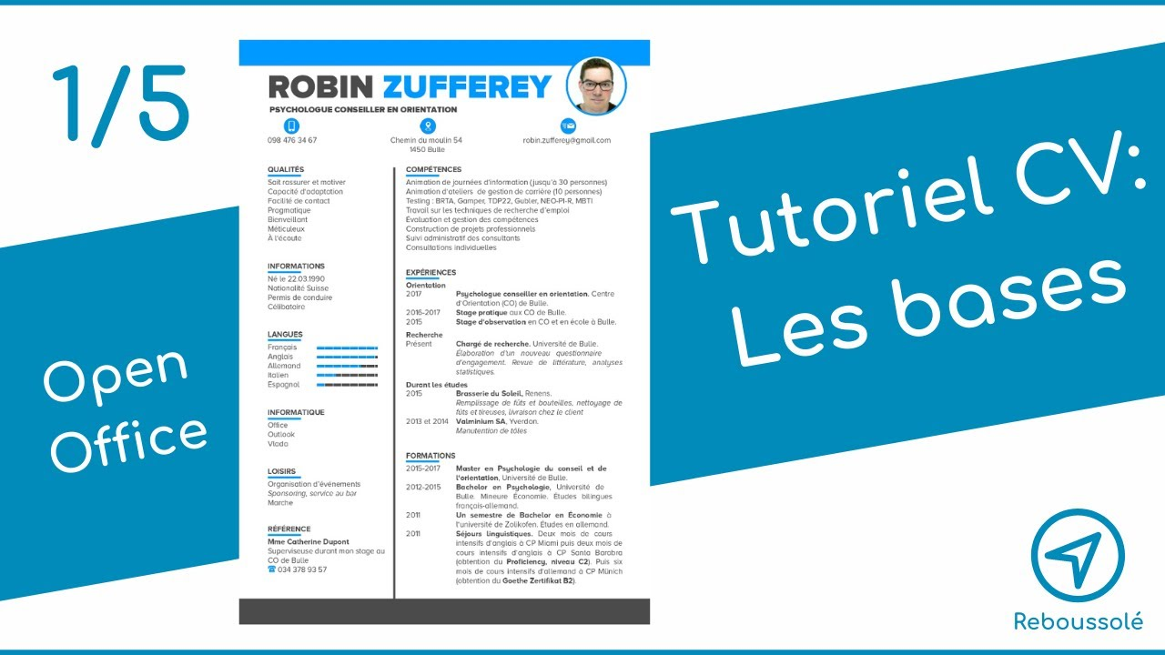 tuto cv open office   les bases  1