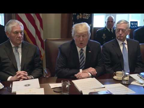 Thumbnail: President Donald Trump Meets With His Cabinet: Angela Merkel Update!!!