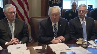 President Donald Trump Meets With His Cabinet: Angela Merkel Update!!!